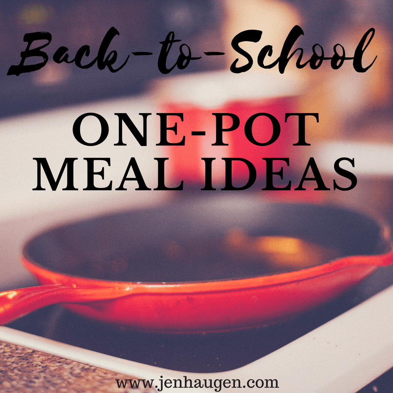 One Pot Meal Ideas