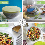 7 Salads with the Salad Cutting Bowl